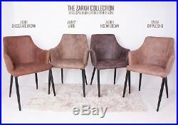 Faux Leather Armchair Dining Chair Coffee Shop Ice Cream Parlour Hookah Cafe Bar