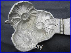 Flower daisy 3 daisies in a bunch shaped pewter ice cream mold butter chocolate