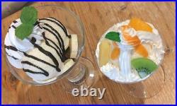 Food Samples Chocolate Brownie Banana Ice Cream Parfait Sundae