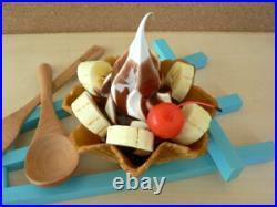 Food Samples Sweets Dessert Chocolate Banana Waffle Soft Parfait Ice Cream 9F112