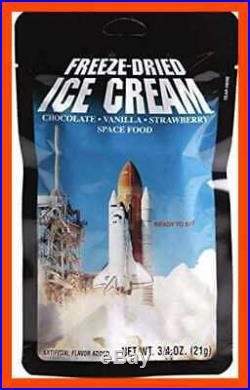 Freeze Dried Ice Cream Neapolitan CHOCOLATE Vanilla Strawberry Astronaut Food 4