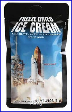 Freeze Dried Ice Cream Neapolitan (Chocolate-Vanilla-Strawberry) Astronaut Fo