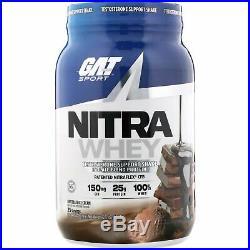 GAT, Nitra Whey, Testosterone Support Shake, Chocolate Ice Cream, 2.17 lb 984.3
