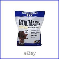Gaspari Nutrition Real Mass 12 lbs Advanced Weight Gainer Chocolate Ice Cream