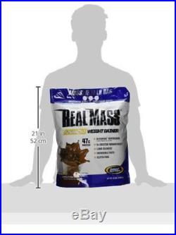 Gaspari Nutrition Real Mass Advanced Weight Gainer, Chocolate Ice Cream, 12