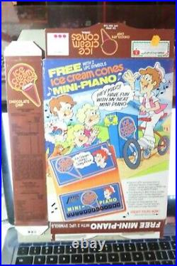 General Mills Chocolate Chip Ice Cream Cones Cereal Box 1987 old series 9