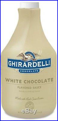Ghirardelli White Chocolate Sauce-89 oz-Smooth Syrup, Ice cream Topping, Dessert