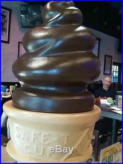 Giant Chocolate plastic ice cream cone