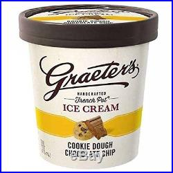 Graeter's Handcrafted, French Pot Ice Cream Cookie Dough Chocolate Chip, 8