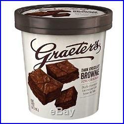 Graeter's Handcrafted, French Pot Ice Cream Dark Chocolate Brownie, Pint 8