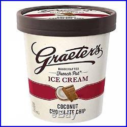 Graeter's Premium Ice Cream, Coconut Chocolate Chip, Pint 8 Count
