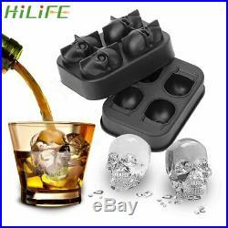 HILIFE Ice Cube Maker Skull Shape Chocolate Mould Ice Cream DIY Tool Whiskey
