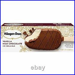 Haagen-Dazs Vanilla Milk Chocolate Ice Cream Bar 3-Ounces
