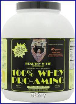 Healthy N Fit 100% Whey Pro-Amino Vanilla Ice Cream 5 Lbs. /2.27 kg