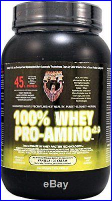Healthy'N Fit Nutritionals Whey Pro-Amino Supplement, Vanilla Ice Cream, 2 Pou