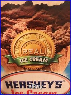 Hersheys Ice Cream Amusement Park Sign Double Sided Hand Dipped Chocolate