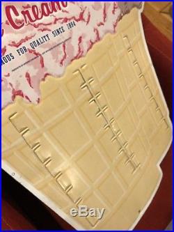 Hersheys Ice Cream Sign Display Metal Menu Store Vintage Candy Bar Chocolate