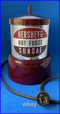Hersheys Soda Jerk Fountain Parlor Fudge Sundae Warmer Ice Cream Chocolate Rare