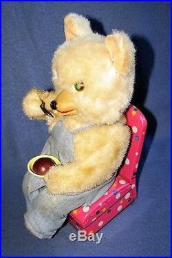 ICE CREAM BABY BEAR (Chocolate) 1950's JAPAN by MASUDAYA TOYS (M-T)