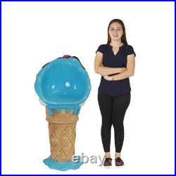 Ice Cream Bar Stool with Blue Moon Chocolate Chip and Cherry Top