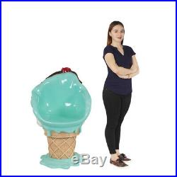 Ice Cream Chair with Mint Chocolate Chip and Cherry Top