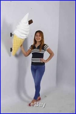 Ice Cream Cone Soft Serve Vanilla Chocolate Stick Hanging Restaurant Prop Decor