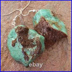 Ice Cream Cone Top! Chrysophrase Mint Chocolate Green Earrings Natural Jewelry