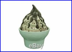 Ice Cream Cup Soft Serve Chocolate Sundae Over sized Display Resin Prop Decor St