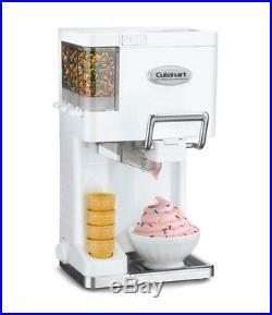 Ice Cream Maker, White Cone Holder Vanilla Chocolate Cherry Walnut Macadamia NEW