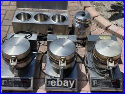 Ice cream waffle cone maker, Hot Fudge Warmer, Chocolate Warmer