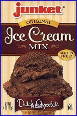 Junket Ice Cream Mix Bundle 2 Vanilla 2 Chocolate 2 Strawberry 6 Total with
