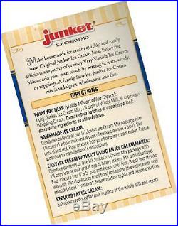Junket Ice Cream Mix Bundle 2 Vanilla and 2 Chocolate (4 Total)