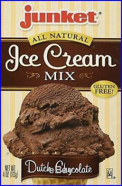Junket Ice Cream Mix Dutch Chocolate 4 OzPack of 1
