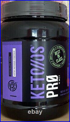 KETO OS Pro MCT Chocolate Swirl Ketones Canister Ice Cream 30 Servings Exp. 10/21
