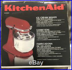 KitchenAid 2-Quart Ice Cream Sorbet Maker Mixer Attachment KICA0WH