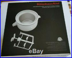 KitchenAid Ice Cream Maker Stand Mixer Attachment KICAOWH-MINT CONDITION