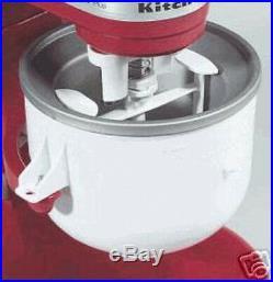 KitchenAid KICA Ice Cream frz yogurt sorbet Maker Stand Mixer Attachment KICAOWH
