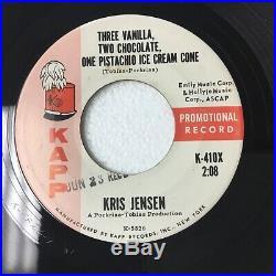 Kris Jensen Three Vanilla, Two Chocolate, One Pistachio Ice Cream Cone Promo Z97