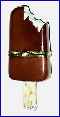 Limoges Box- Eximious Chocolate Covered Pop & Stick -vanilla Ice Cream- Popsicle