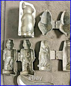 LOT 9 Schall & Co, E & Co, Antique Pewter Mold ice cream butter chocolate mould