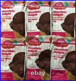 LOT OF 6 Rival Frozen Delights Ice Cream Mix 8oz CHOCOLATE DELIGHT