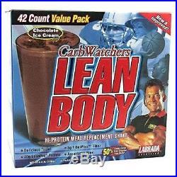 Labrada Carb Watchers Lean Body Chocolate Ice Cream 42 x 2.29 oz. Pkts
