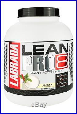 Labrada Lean Pro 8 Protein 5lb Jug 8 Protein Blend Discounted 45 Servings New