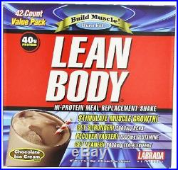 Labrada Nutrition Lean Body Chocolate Ice Cream 79-Gram Packets Pack of 42