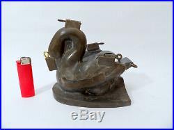 Large Antique Ice Cream or Chocolate Mold Swan Circa 1880 number 148