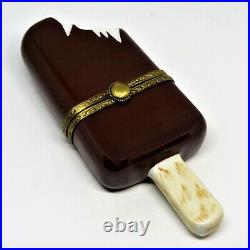 Limoges France Box- Chocolate Covered Pop & Stick Vanilla Ice Cream Popsicle