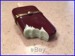 Limoges Rochard Hand Painted Bitten Chocolate Ice Cream Bar Hinged Box
