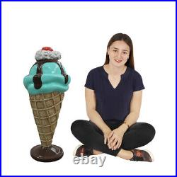 Mint and Chocolate Ice Cream Sundae Statue on Stand 3FT