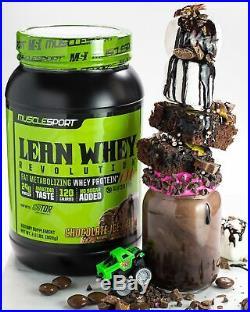 MuscleSport Lean Whey Revolution (Chocolate Ice Cream, 5lb) Protein Powder, W