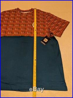 NEW BBC Ice Cream Half Chocolate Bar Pharrell NERD All Over Men's Shirt size 2XL